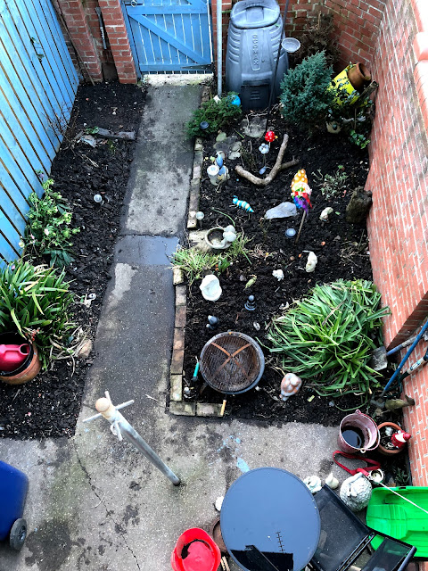 My urban back garden ready for planting, Mandy Charlton, Photographer, Writer, Blogger, Newcastle