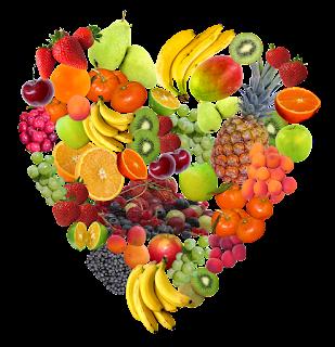strawberry, orange, almond, cashew, banana, heart, health
