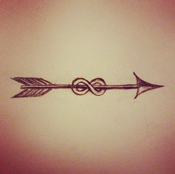 Arrow Infinity Tattoo Designs