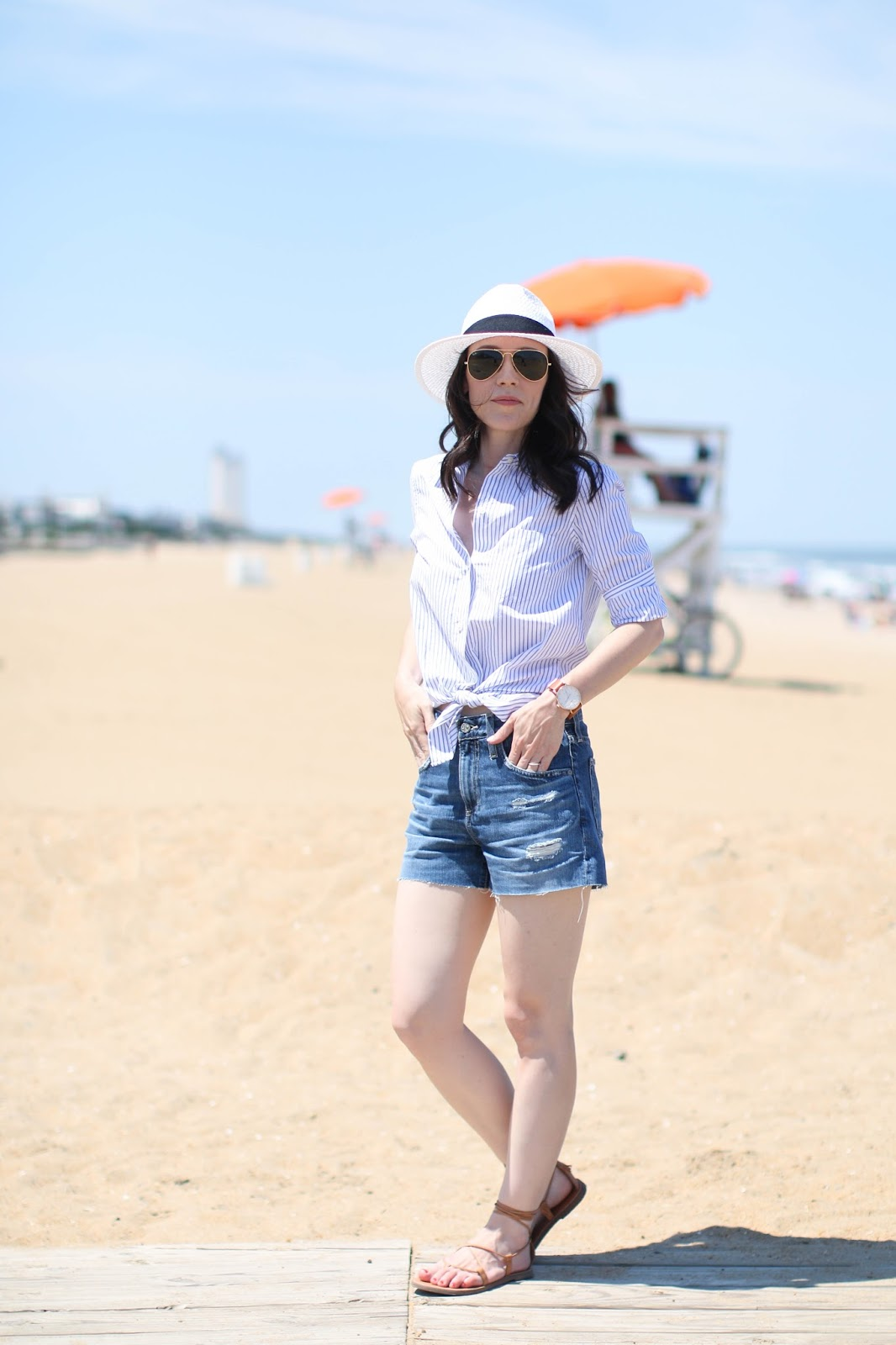 Casual beach day outfit