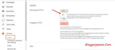 Cara Memasang HTTPS (SSL) di Blogger Custom Domain