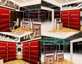 Thiết kế cửa hàng giày 2