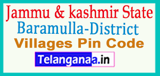 Baramulla District Pin Codes in Jammu & Kashmir State