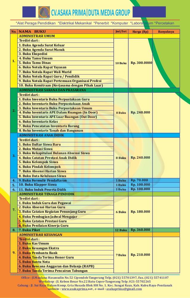 Buku Panduan Administrasi dan Ketatausahaan PAUD, buku administrasi paud ,contoh buku administrasi paud ,administrasi paud , format administrasi tk terbaru ,buku administrasi kepala sekolah tk ,buku administrasi paud