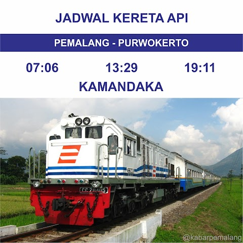 Jadwal Kereta Api Pemalang - Purwokerto