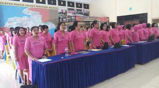 Arahan Kapolres Kepada Ratusan Anggota Bhayangkari