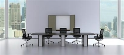 Verde Series Modern Glass Accented Conference Table