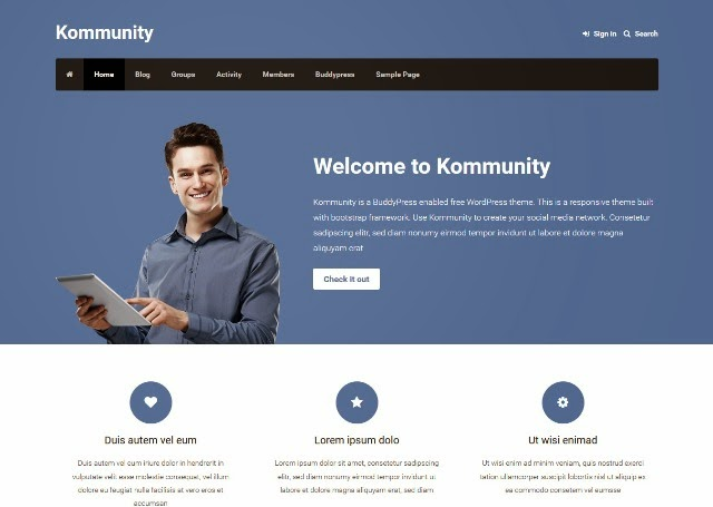 Kommunity - Responsive WordPress Theme