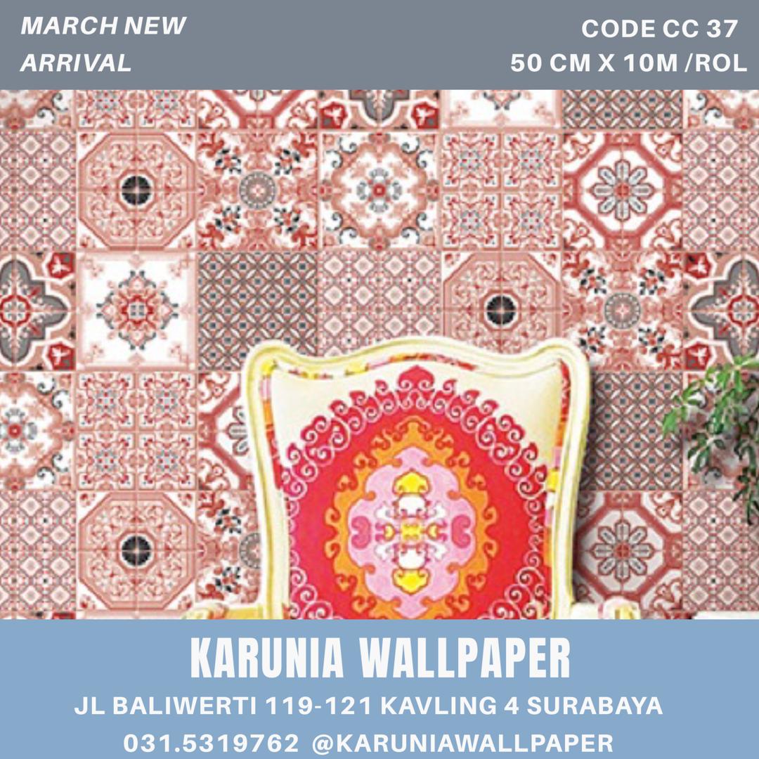 jual dinding wallpaper etnik peranakan