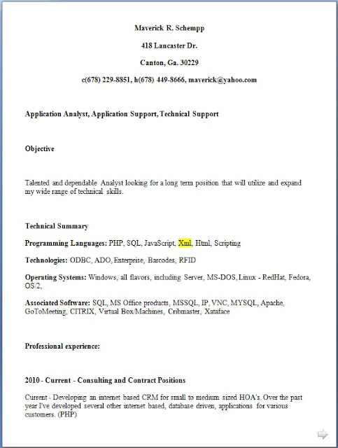 software engineer easy resume format in word free download
