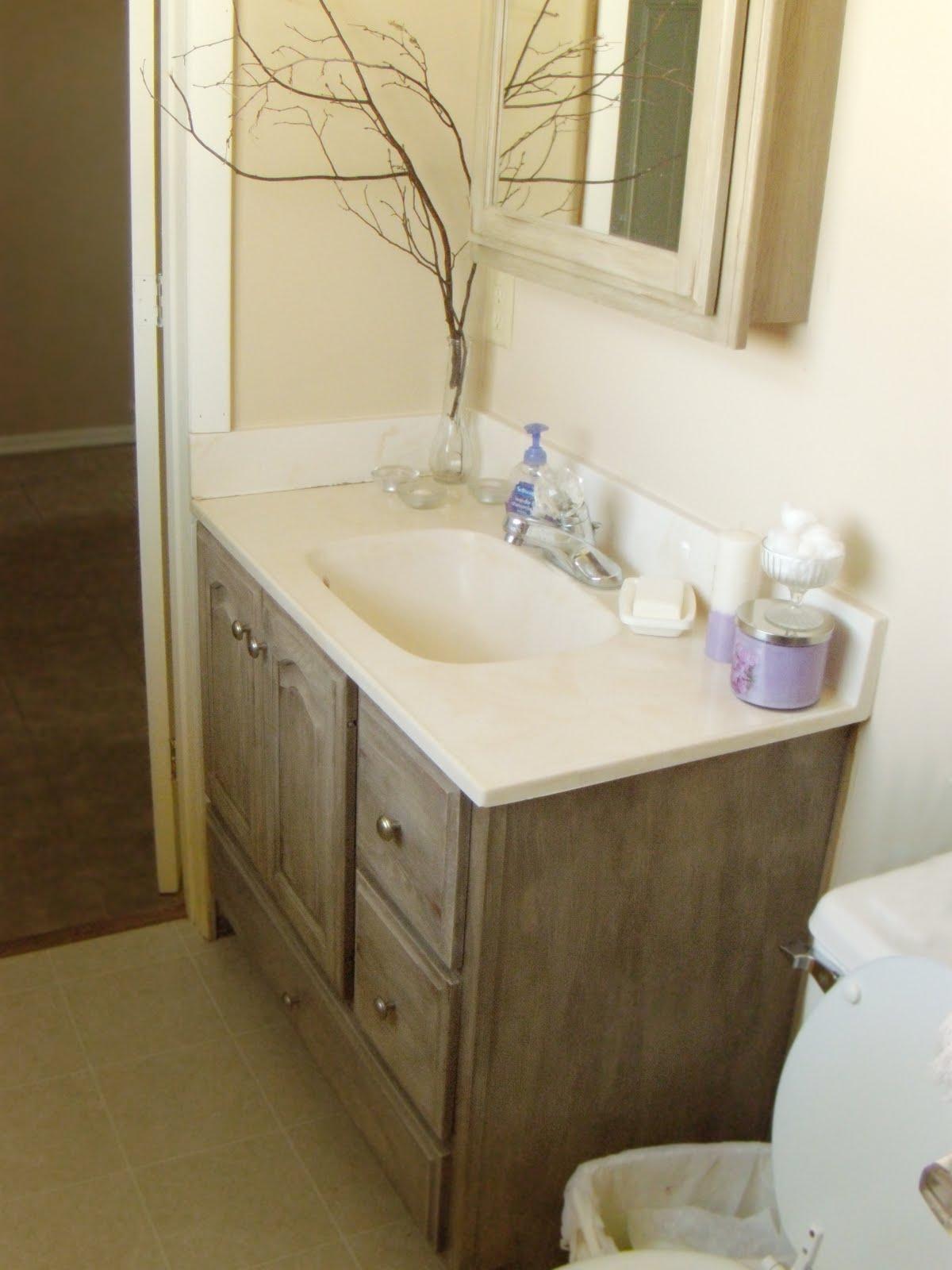 Down On Sanford Bathroom Vanity Redo