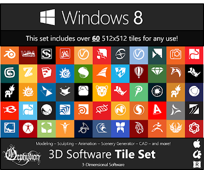 Windows 8 Modern UI Custom Tile Set