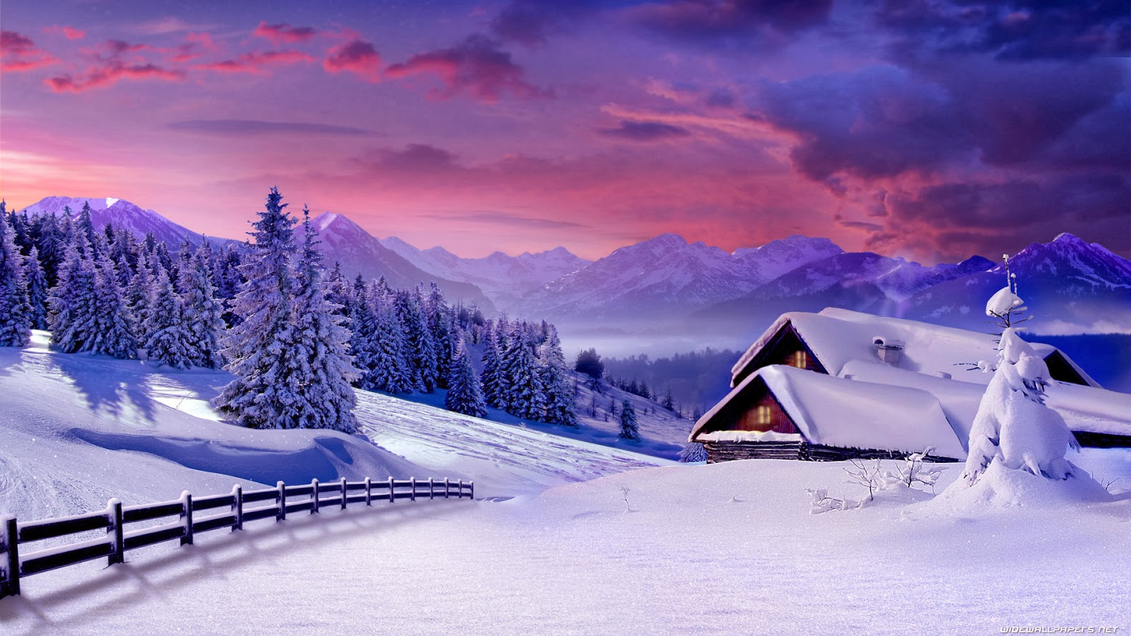 Snowy Winter Christmas Scenes Backgrounds Papneh Merrychristmas2020 Site