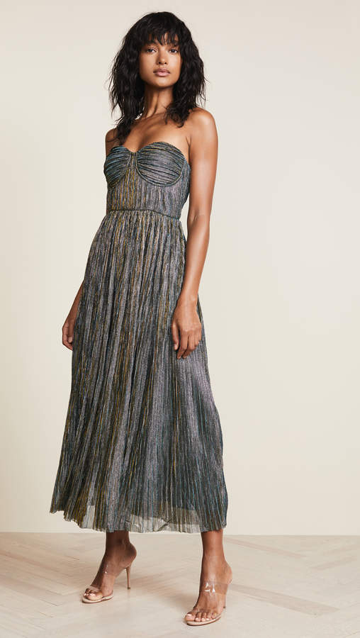 Glamorous Metallic Strapless Dress