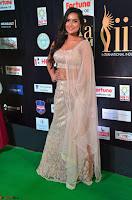Prajna Actress in backless Cream Choli and transparent saree at IIFA Utsavam Awards 2017 0026.JPG