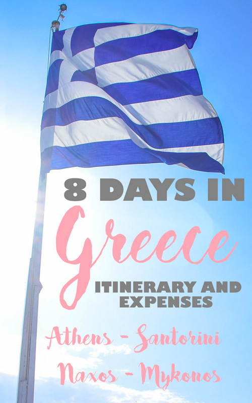 Greece Itinerary and Expenses pinterest