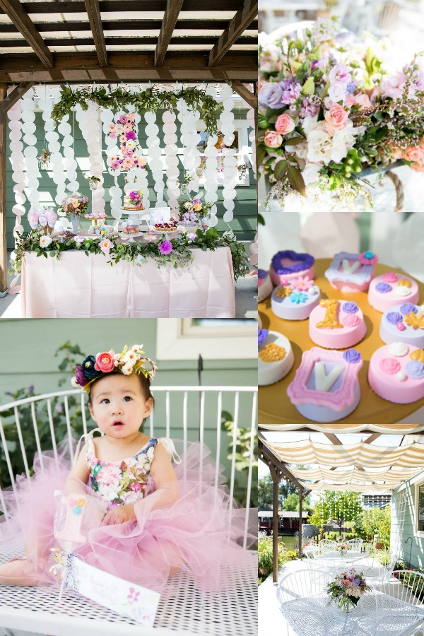 Floral first birthday party ideas