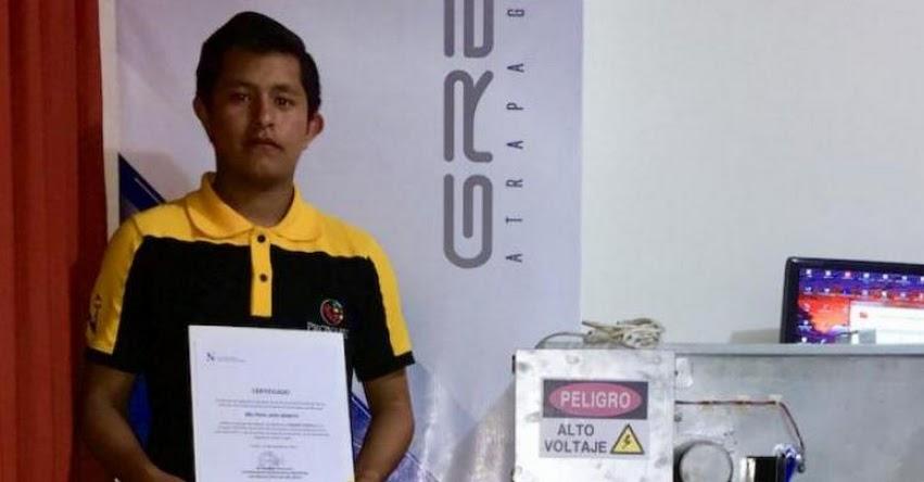 PRONABEC: Talentoso becario obtiene el Primer Puesto en Feria de Innovación y Emprendimiento de La Libertad - www.pronabec.gob.pe