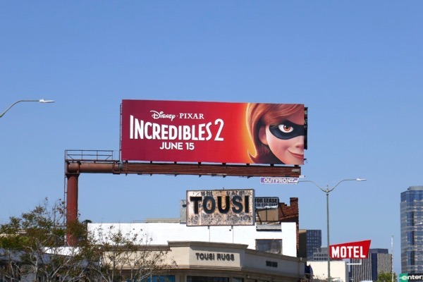 Elastigirl Incredibles 2 movie billboard