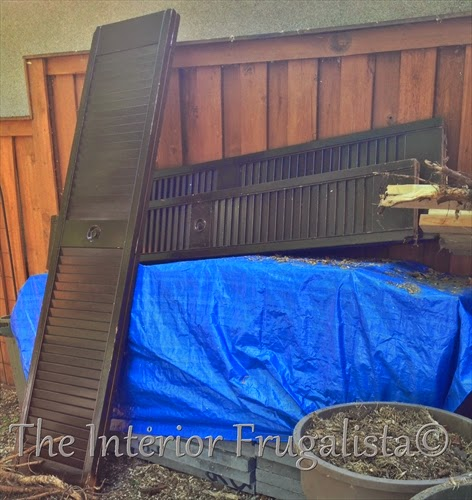 Old louvered doors to be repurposed into a garden screen