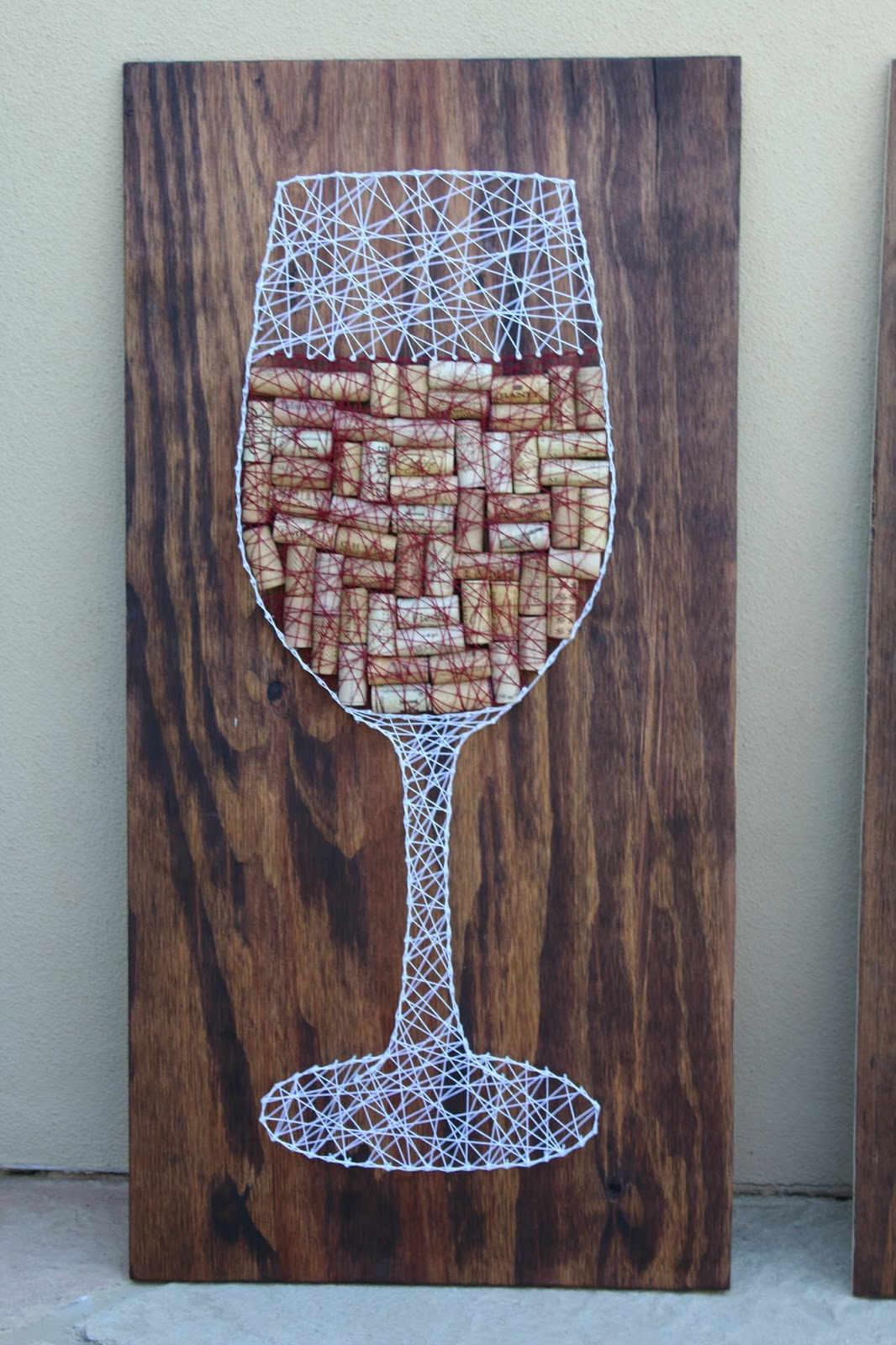 Diy Wine Cork String Art Tutorial Sam Rhymes With Ham
