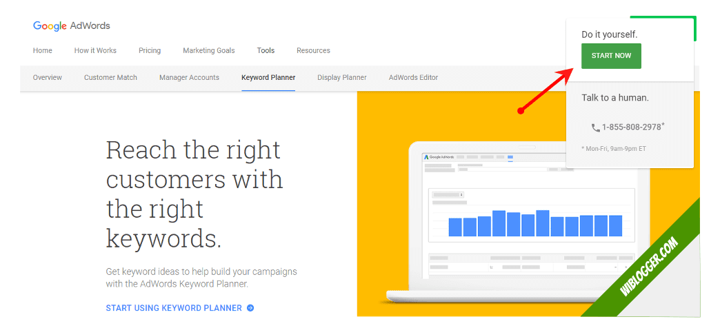 Cara mendaftar adwords google keyword planner