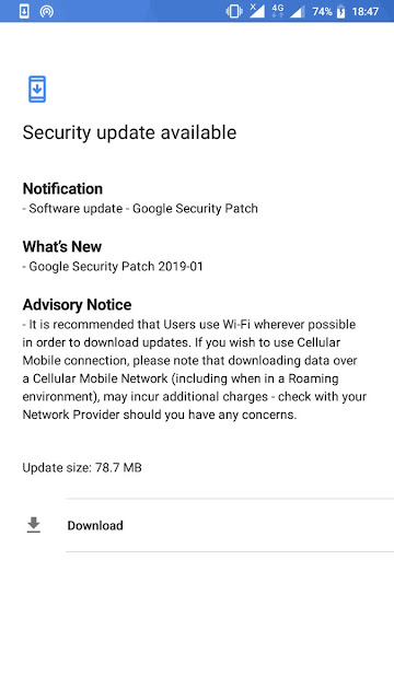 Nokia 3 receiving January 2019 Android Security update