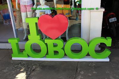 """I love Loboc"" sign, Loboc River, Bohol, Philippines"
