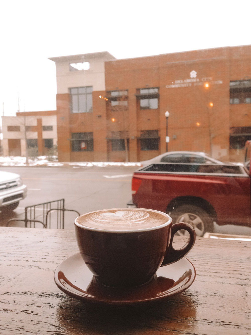 Almond Milk Lattes from Coffee Slingers in Oklahoma City's Automobile Alley District