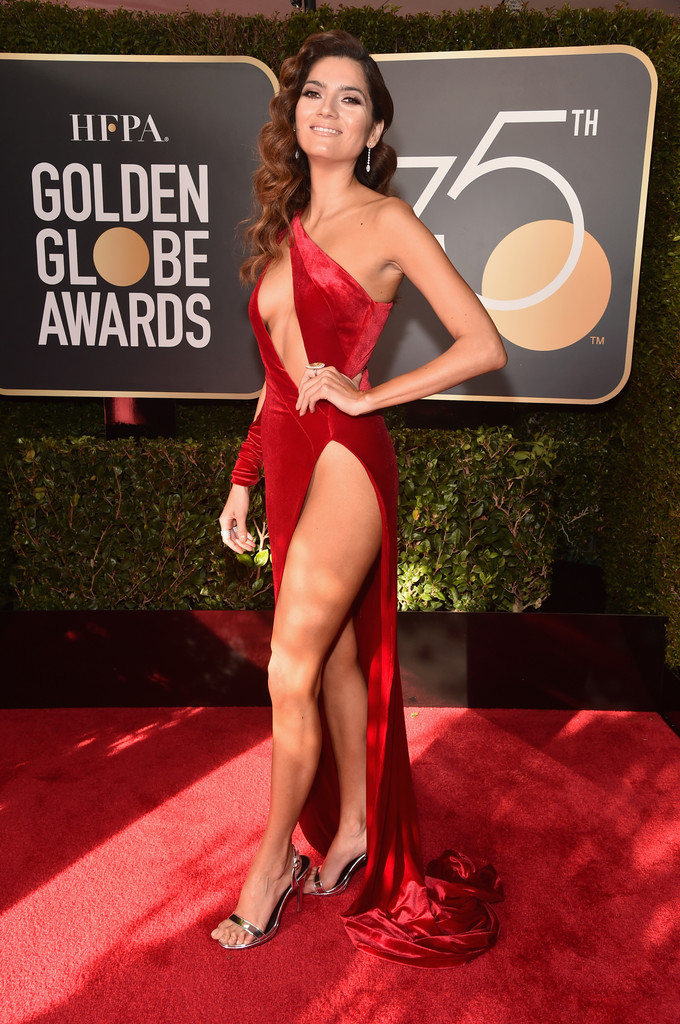 Blanca Blanco On the Red Carpet at 75th Annual Golden Globe Awards