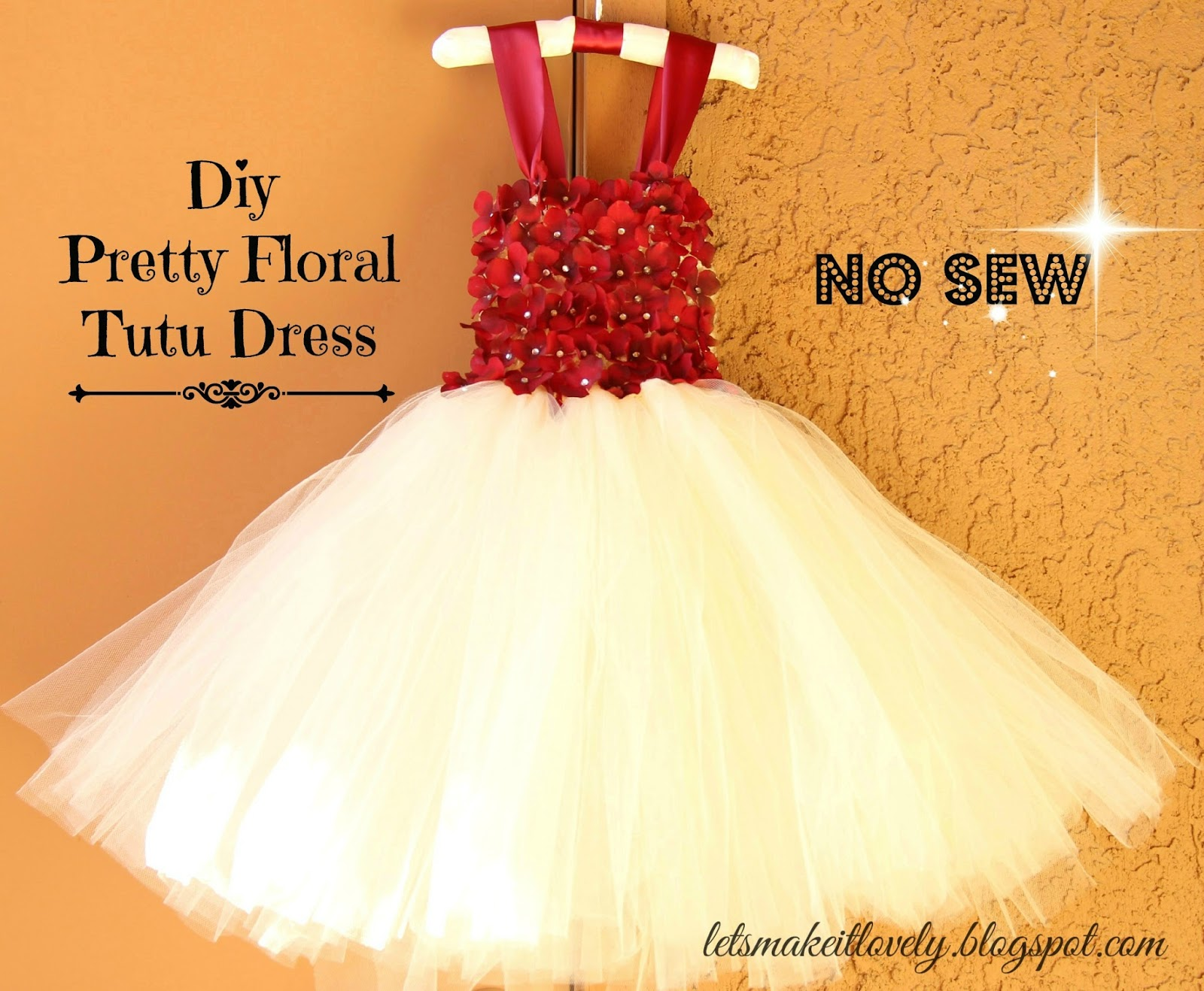 85d3f6794f DIY No Sew Tutu Dress. DIY Flower Girl Dress. DIY Floral Tutu Dress.