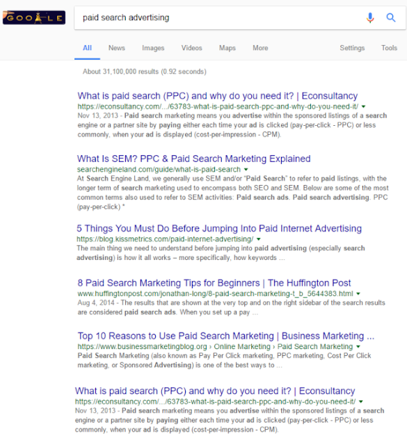 paid search advertising in mumbai google search