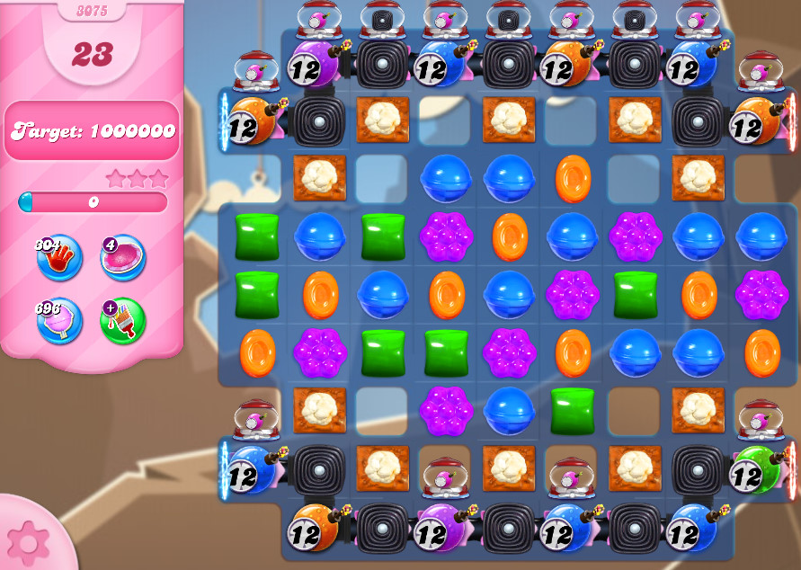 Candy Crush Saga level 3075