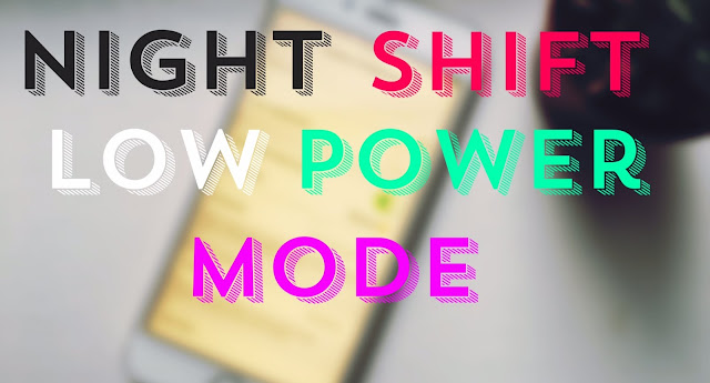 "Step 1: Go to Settings – Battery – Turn on Low Power Mode  Step 2: Invoke Siri and say ""Enable Night Shift Mode"" Siri will reply like this ""In order to turn on Night Shift,..."