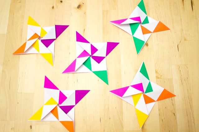 How to make origami paper quilts- such a fun kids' math art and craft idea to do with friends