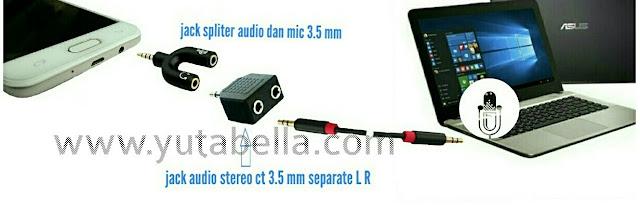 Merekam suara di mic laptop