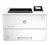 The HP LaserJet Enterprise M506dh printer supports security technologies that can detect threats from outside the system and fix Printer settings.