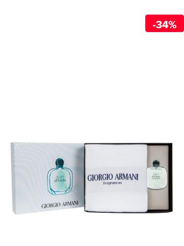 Giorgio Armani Set cadou Acqua di Gioia (Apa de parfum 100 ml + Prosop), pentru femei