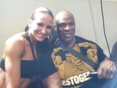 Ronnie Coleman with Frida Harvath