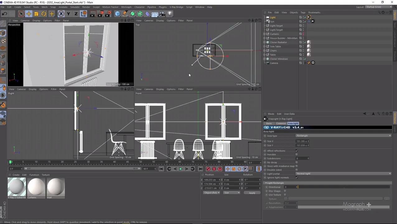Interior Lighting & Area Lighting In Vray for Cinema 4D | CG TUTORIAL
