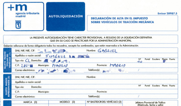 Motocoche tr mites y documentaci n para transferir un for Bankia particulares oficina internet entrar