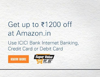 Amazon Super Value Day Offer - ₹ 1200 off