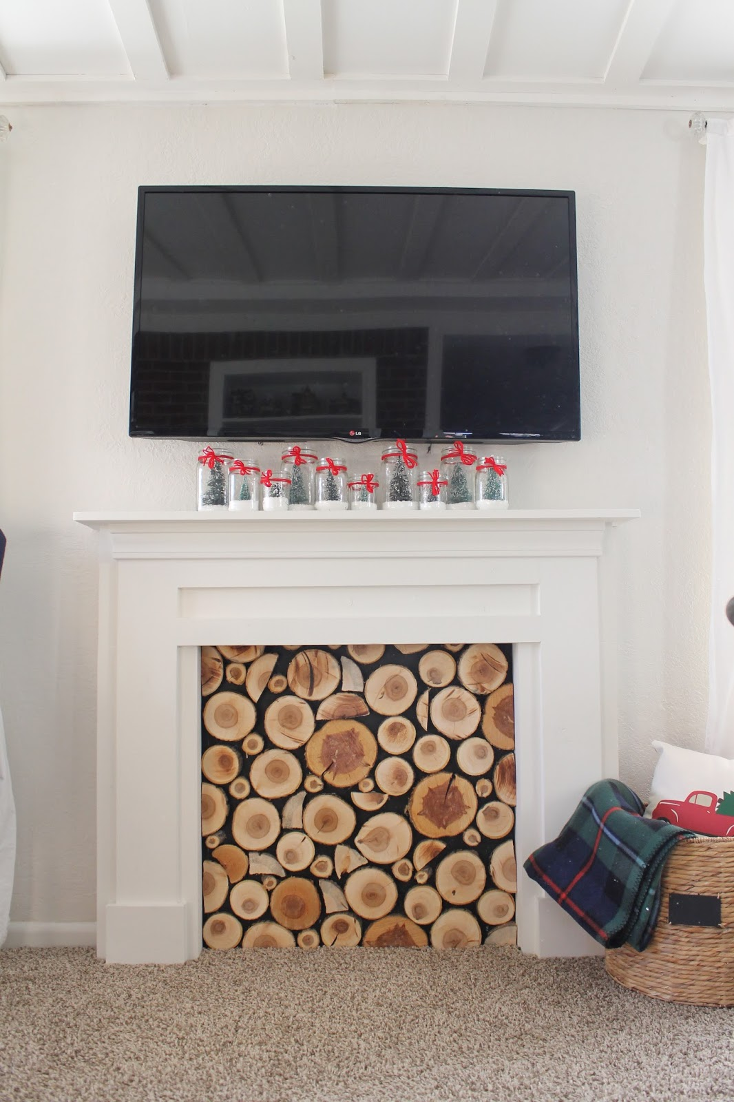 wonderfully made diy faux fireplace