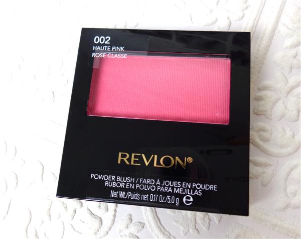 Review Swatch Revlon Powder Blush Haute Pink Lenallure