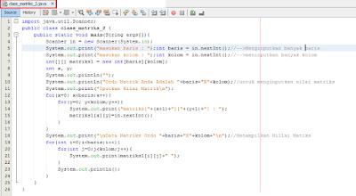 2 - Cara Menciptakan Matriks Dengan Ordo Di Inputkan Di Java