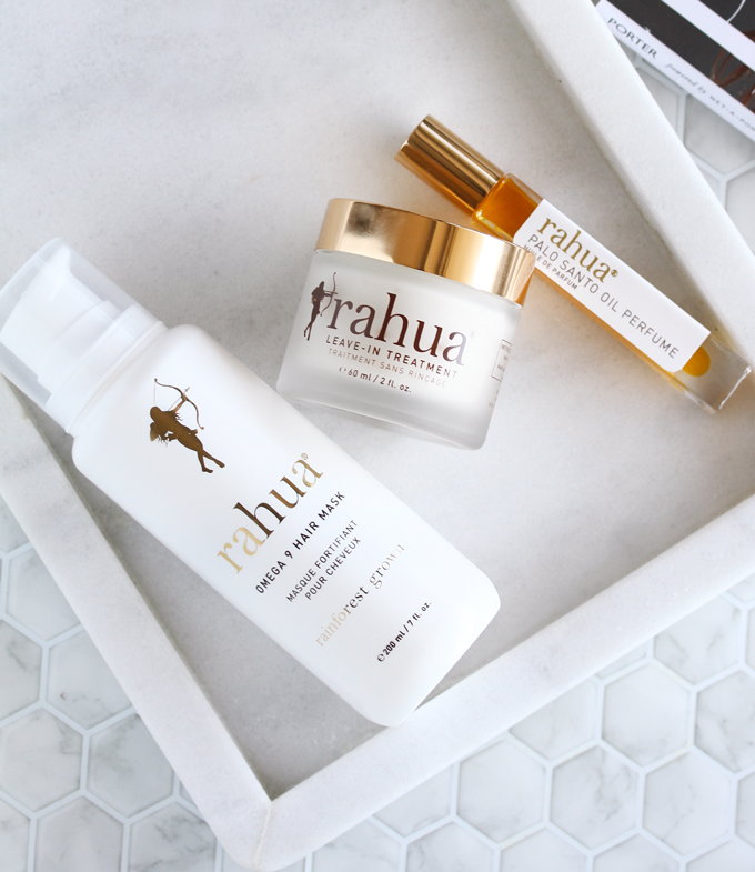 Rahua by Amazon Beauty, Rahua Review, Clean Haircare, Ethical Beauty, Eco Luxe Beauty,Rahua Omega 9 Hair Mask, Rahua Leave-In Treatment, Rahua Palo Santo Oil Perfume