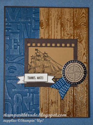 Mojo Monday, Paper Players, Stamp with Trude, Thanks Mate, Stampin' Up!, masculine, Thank you card