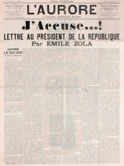 J'Accuse front page
