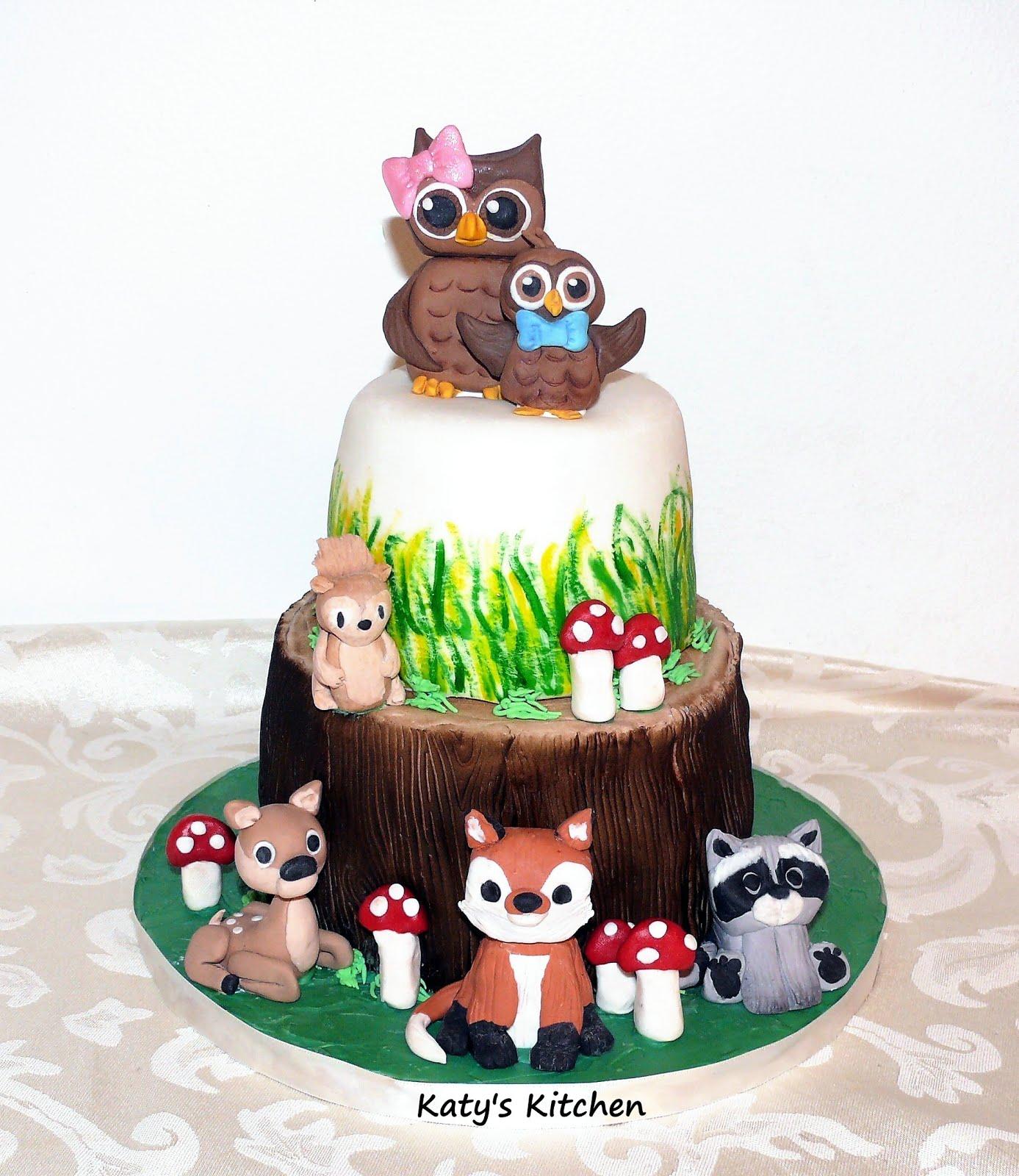 Katys Kitchen Woodland Baby Shower Cake