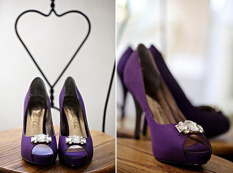 Wedding By Designs Purple Cute Wedding Shoes